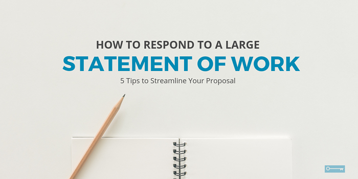 How to Respond to a Large Statement of Work (tips to streamline your proposal)