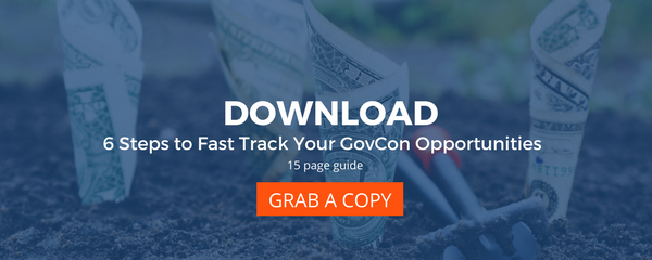 download the guide six steps to fast track your govcon opportunities